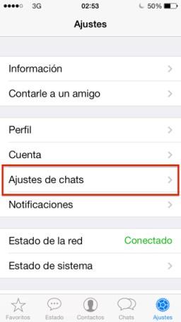 Hora de tu última conexión en WhatsApp