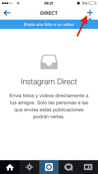 Instagram direct para iPhone