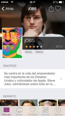 series.ly en iPhone