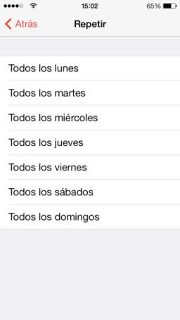 función alarma del iPhone