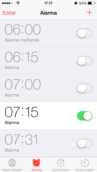 Cómo gestionar la alarma del iPhone