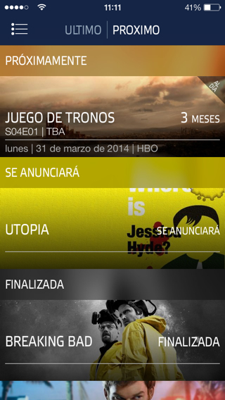 gestor de series para iPhone