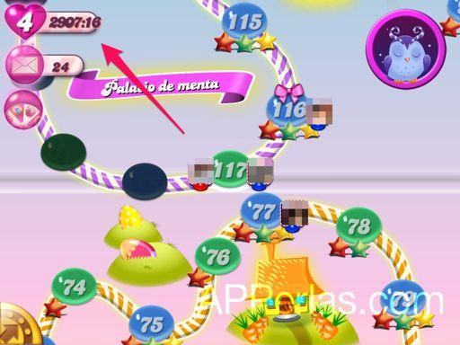 Eliminar minutos del candy crush en iPhone y iPad