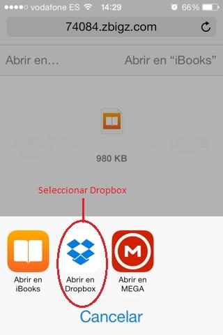 Sincronizar marcadores de libros con DROPBOX