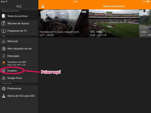 Pasar vídeos al iPhone, iPad o iPod Touch con VLC