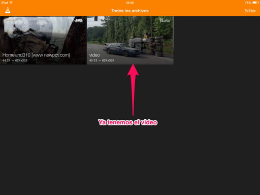 Pasar vídeos al iPhone, iPad o iPod Touch con VLC