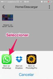 Enviar vídeos de Youtube por Whatsapp en iPhone