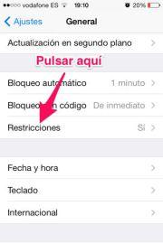 Activar Restricciones iPhone, iPad y iPod Touch