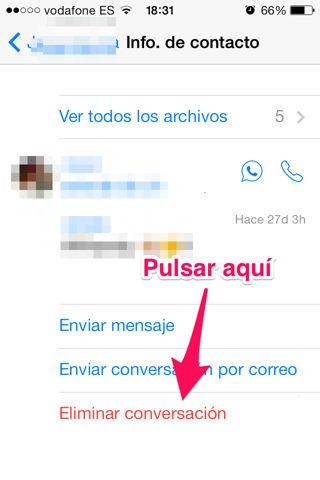liberar espacio en iPhone eliminando chats