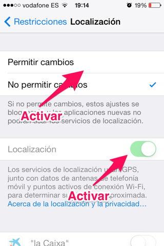 activar restricciones en iPad