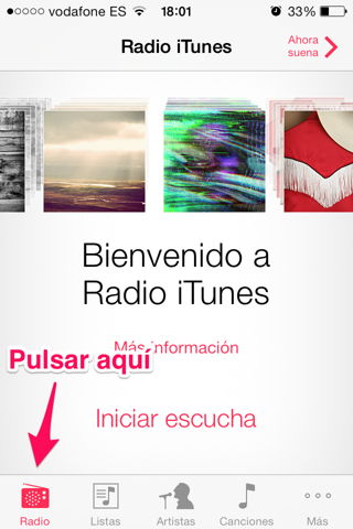 usar iTunes Radio en España y iPhone