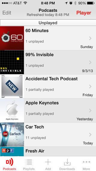 mejores app de podcast downcast