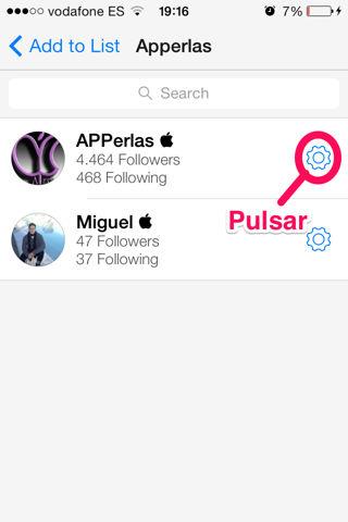 crear listas en Tweetbot iPod Touch
