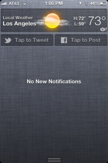centro de notificaciones en iOS 6