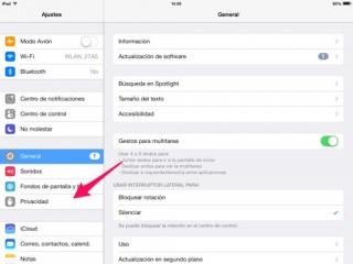privacidad en iPhone