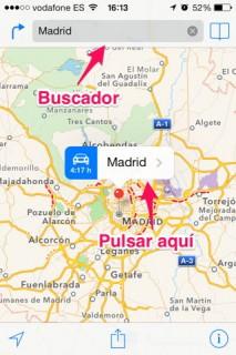 app Mapas en iPhone