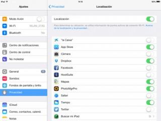 privacidad en iPhone, iPad