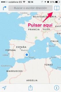 favoritos de app Mapas