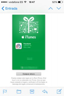 regalar apps y canjear