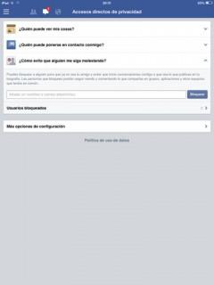 privacidad en facebook bloquear