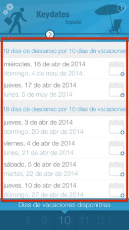 App para planificar vacaciones