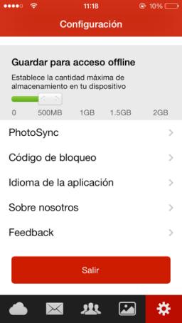gestionar archivos en la nube para iPhone