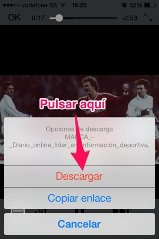 descargar vídeos en iPhone 4