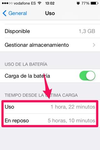 consumo de batería en iOS 3