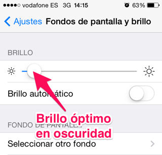 brillo automático en iPhone, iPad y iPod Touch