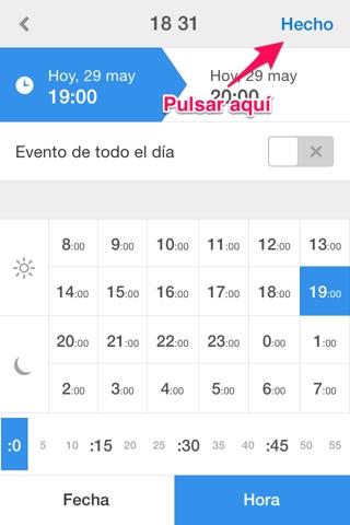 crear un evento en Calendars 3