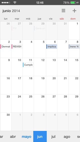 alternativa al calendario de iPhone y iPad