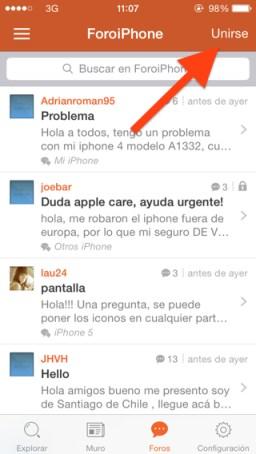 App de foros para iOS