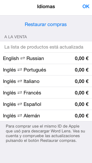 Traducir textos con iPhone y iPad