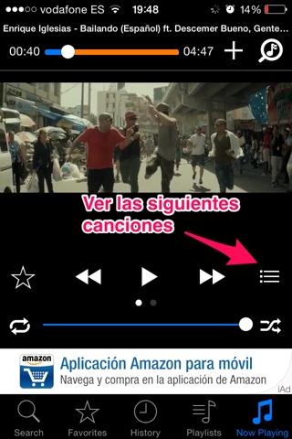 música de youtube en iPhone 5