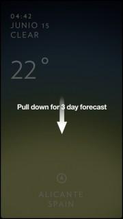 App del tiempo para iPhone
