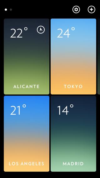 App del tiempo de distintas ciudades