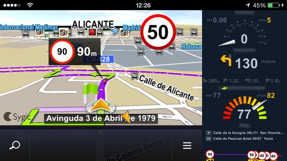 Sygic GPS sin conexión internet para iOS