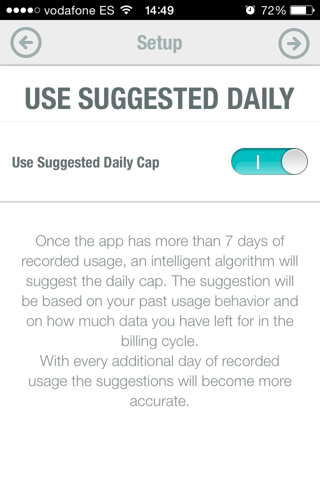 datos en iPhone 3