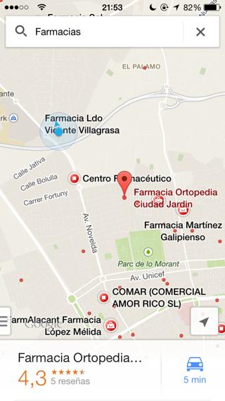 Google maps y sus Lugares de interés