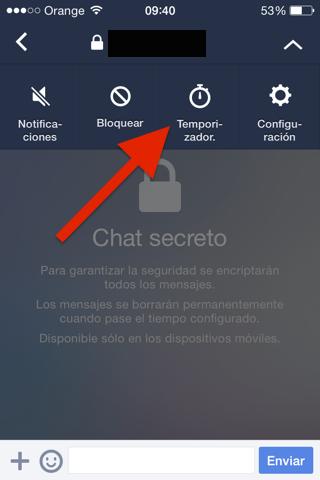 Chat secreto para iPhone