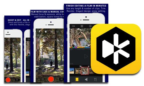 Crea tus propias películas con la app Kinomatic