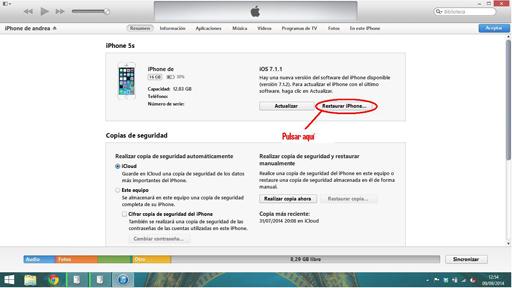 Instalar iOS 8 2