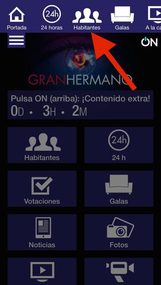 GRAN HERMANO en directo en teléfono móvil