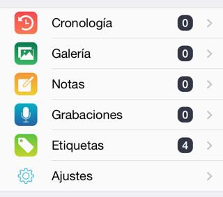 App diario iPhone