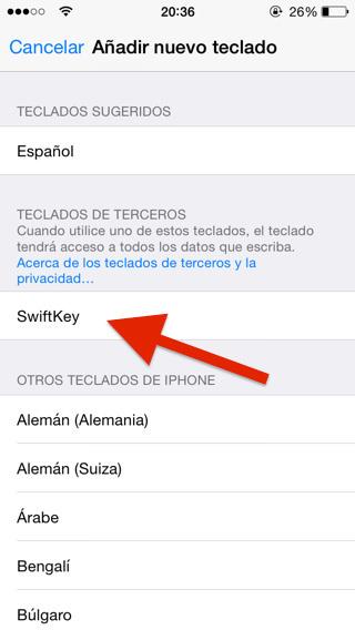 Teclados nuevos iOS 8 iPad