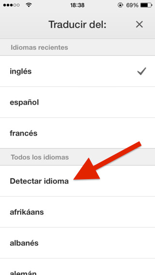 Traducir textos con iPhone y iPad usando TRADUCTOR DE GOOGLE