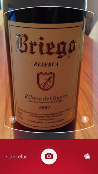 información de vinos iphone