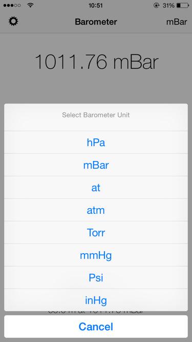 barómetro para iPhone 6