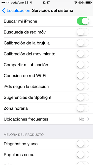 iPhone 4S con iOS 8 5