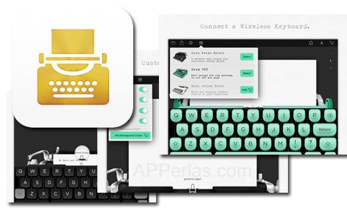 Máquina de escribir para iPad con la app Hanx Writer